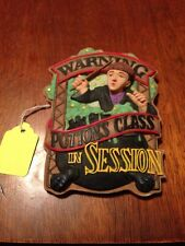 Harry Potter Warning Potions Class In Session Plaque Ron Weasley Enesco