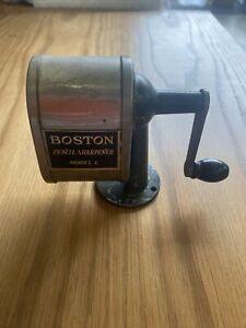 Vintage Boston Model L Pencil Sharpener ~Wall Desk Mounted ~Old School Office