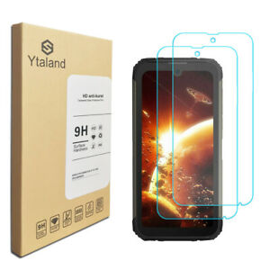 Ytaland 2Pcs 9H Tempered Glass Film Screen Protector For Doogee S59 Pro