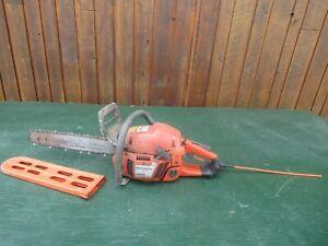 "Vintage HUSQVARNA 350 Chainsaw Chain Saw with 15"" Bar with Log Spike"