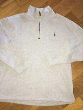 POLO RALPH LAUREN Gray 1/4 Zip Cotton Pullover Sweatshirt Jacket - 1XB BIG - NWT
