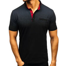 Mens Shirts Short Sleeve Casual Golf T-Shirt Sports Jersey Tops Blouse M - 3XL