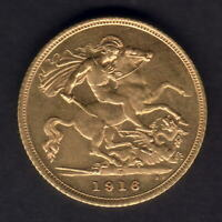 Australia..  1916 Sydney - Half Sovereign..  Full Lustre..  aU/UNC