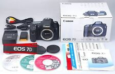 Exc+++++ Canon EOS 7D 18.0 MP Digital SLR Camera Black Body Boxed From Japan