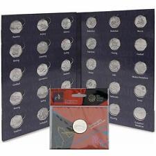 2012 Olympic 50P SPORT MEDAGLIA ALBUM cartella + ROYAL MINT completezza MEDAGLIA Medallion