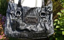 Guess bag grey / black leopard print faux leather bag