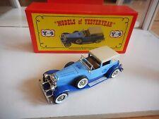 Matchbox Models of Yesteryear 1930 Duesenberg Model J town Car Ducth Promo - Box
