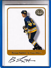 """2001-02 FLEER GREATS OF THE GAME BRIAN SUTTER """"ST LOUIS BLUES"""" AUTOGRAPH AUTO"""