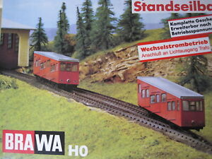 Cable Car, Cliff railway, Standseilbahn H0, suitable for OO Brawa No 6310