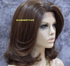 "20"" Bob Straight Brown Auburn Mix Full Lace Front Wig Heat Ok Hair Piece 4.27.30"