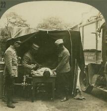 French Field Hospital - locating Bullet With X-Ray Machine - WW1 Stereoview