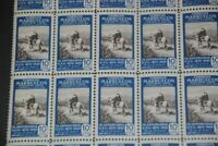 1950 MNH Spanish Morocco Scott 281 Mail Transport 1906, partial sheet of 25