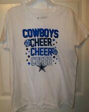 Dallas Cowboys Cheer Cheerleader Whte Short Sleeve Shirt Girls Large 12 / 14 NWT