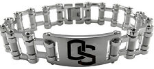 OREGON STATE BEAVERS OSU * Stainless Steel Bike Chain Bracelet w/Logo * NCAA NEW