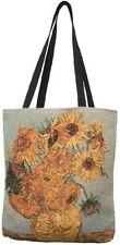 BELGIAN TAPESTRY LARGE SHOPPING TOTE BAG 46CM X 46CM, VAN GOGH SUNFLOWERS