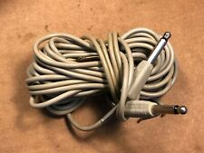 "Pair Vintage 1964 Sony 11-foot 1/4"" Shielded Cables fr Guitar Speaker Connector"
