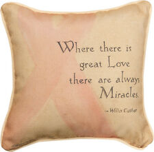 Believe In Miracles ... Love ~ Breast Cancer Awareness Tapestry Toss Pillow