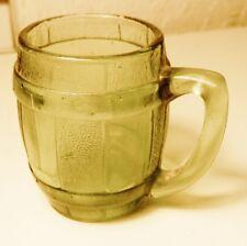 Atlas GREEN  BARREL MUG~TOOTHPICK HOLDER~SHOT GLASS-Vintage