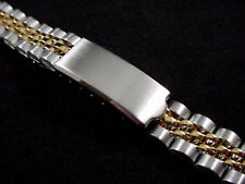 New Ladies 2 tone Stainless steel flat  end watch band Jubilee style