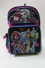 NWT MONSTER HIGH Backpack Large 16 Inches Pink/Black Multi