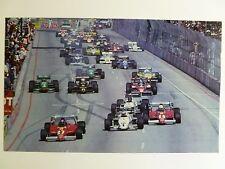 1984 Long Beach Formula 1 Grand Prix Print Picture Poster RARE!! Awesome L@@K