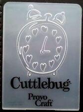 Cuttlebug Small Embossing Folder HEART ALARM CLOCK fits Sizzix Big Shot