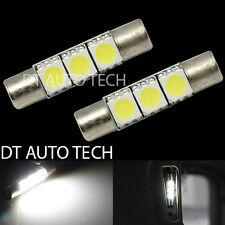 2X 6000K White 3 LED Bulbs Sun Visor Vanity Mirror Lights Fuse Shape 6641 29mm