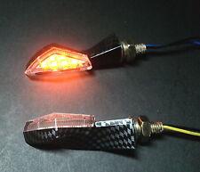 4X LED SMD V2 MATRIZ CARBONO YAMAHA XV1100,XV750 ,XV900,R1 R6 R1-Z,TT250,TZ250