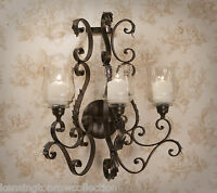 "WALL SCONCES - ""SUNSET BOULEVARD"" 3-LIGHT ACANTHUS LEAF CANDLE WALL SCONCE"