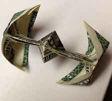 STAR WARS Tie Fighter Real $1 Dollar Bill Origami 3D Money Gift or Ornament