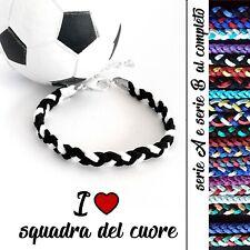 bracciale squadra del cuore da uomo donna braccialetto per tifoso di calcio A B