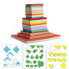 Square Double Sided Origami Folding Lucky Wish Paper Crane Craft Colorful Sheets
