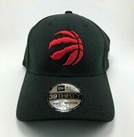 Toronto Raptors NBA New Era Hat 39THIRTY Flex Fit Cap Black Size Medium Large