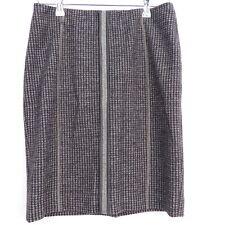 MARCCAIN Rock Gr. N3 DE/38 Damen Schwarz Grau Schurwolle Skirt