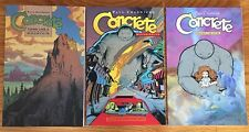 Dark Horse Concrete Trade Paperback Tpb Set of 3 First Printings Paul Chadwick
