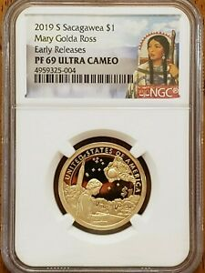 2019-S Sacagawea,Mary Ross Dollar NGC PF69 UCAM Early Releases #AA218-3