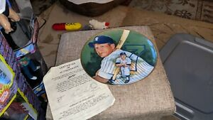 Mickey Mantle New York Yankees 1983 Marigold Pablo Carreno Plate
