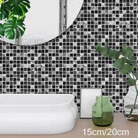 Autocollants mosaïque carreaux salle de bains auto-adhésifs décoration murale BR