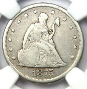 1875-CC Twenty Cent Coin 20C - NGC VF Detail - Rare Carson City Coin!