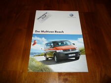 VW Multivan BEACH Prospekt 11/2006