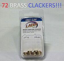 72 Lazer Sharp 2.5mm Brass Carolina Clackers (LCLACKER1) EB020201