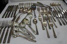 Mixed Lot SilverPlate Flatware 50+ pcs for Crafts or Use Several Patterns Makers