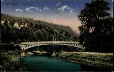 Meiningen Thüringen 1928 Georgsbrücke Brücke Bridge gelaufen nach Bad Brückenau