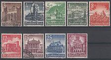 Gestempelte Briefmarken aus dem deutschen Reich (1933-1945) mit Bauwerks-Motiv