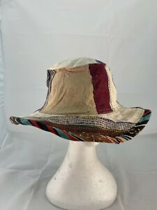 New Patchwork Hemp & Cotton Hippie Festival Boho Unisex 61 cm Brim