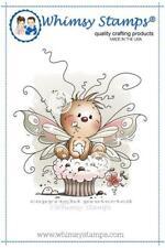 """Stempel """"Cupcake Treat"""" Whimsy Stamps, niedlicher Schmetterling mit Cupcake"""
