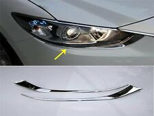 Head Light Cover Chrome Front Lamp Eyebrow Trims FOR 2014-2016 Mazda 6 ATENZA M6