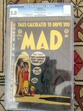 MAD # 1. CGC 5.0 EC COMICS  1952. OFF WHITE TO WHITE PAGES