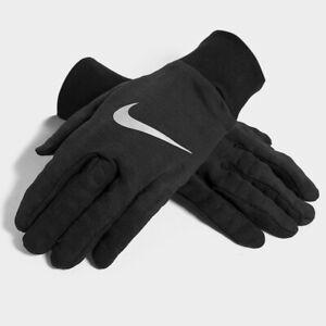 Mens Nike Sphere Black/White Running Gloves (CSA1) RRP £29.99