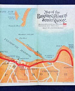 1901 Brockton & Plymouth Street Railway Co. Guide & Map - GH Walker & Co. Boston
